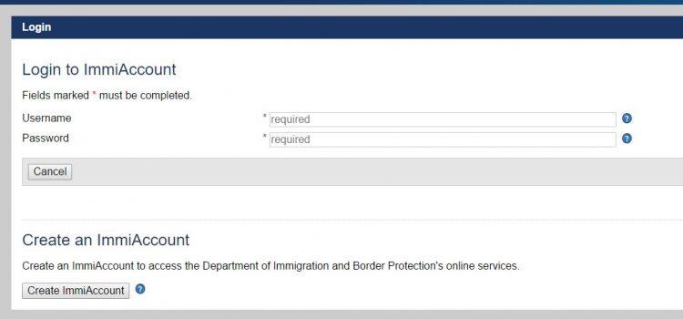 Jak utworzyć IMMI Account na stronie urzędu imigracji?